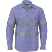 Chambray Shirt with Generic R/Tape- Long Sleeve